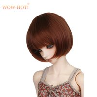 Wholesale Toys Doll Girl Sexy - Short Straight Wig For 1 3 1 4 1 6 BJD Dolls,Cute Girl Sexy Neat Bangs High Quality Fashion BJD SD Hair Wig Doll Accessories