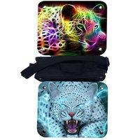 школьные сумки для леопарда оптовых-Leopard Изолированный Мешок обеда животных Тигр Лев Дракон Аниме Женщины Мужчины Подростки Мальчики Kid School Lunch Box Cooler Тепловое