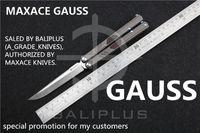 Wholesale Ceramic Combat Knives - [ BALIPLUS BLADES ] MAXACE GAUSS BALISONG COVENANT 3RD VERSION BUTTERFLY KNIFE M390 BLADE TI+CF HANDLE  Ceramic BALL BEARING PIVOT