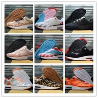 zapatillas florales al por mayor-Moda Piet Parra x 1 SE DLX ATMOS Bred Floral Camo Premium Plaid Suede Zapatos para correr Mujeres Hombres Entrenadores 1s Chaussures Sneakers Tamaño 36-45