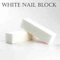 Wholesale free shipping sanding block for sale - Group buy Good Quality White Buffing Sanding Files Block Pedicure Manicure Care Nail File Buffer for Salon