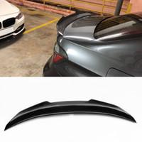 bmw labio al por mayor-Estilo del coche de Fibra de Carbono Brillante Coche Auto Spoiler Trasera Alas Alas para BMW Serie 3 F30 Spoiler 320i 330i 335i Sedan 2012-2017