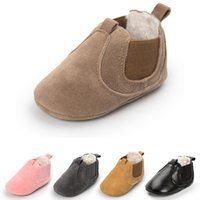 Wholesale wholesale shoe soles for babies online - New Arrival Winter Warm Toddler Baby Shoes Boots Boy Girl M Infant First Walker Soft Soles Shoes Newborn Moccasins Crib Shoes for Babies