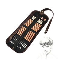 marco eskiz kalemi toptan satış-MARCO acemi kroki Araçları 8 parça suit + + kauçuk kömür kalem işareti kalem kalem kağıt perde bıçak