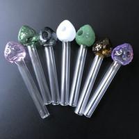 типа труб оптовых-Оптовая клубника курительные трубы многоцветный Pyrex стекло масляная горелка трубы прямой тип стеклянные трубы новые поступления 500 шт. SW42