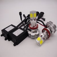 bombilla cree h1 al por mayor-H4 H7 H11 H1 9005 9006 9007 CREE Kit de conversión de faros LED 400W 40000LM Bombillas de luz alta / baja 6000K