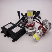 h7 cree led scheinwerfer kit großhandel-H4 H7 H11 H1 9005 9006 9007 CREE LED-Scheinwerfer-Umrüstsatz 400W 40000LM Glühlampen Hi / Lo 6000K