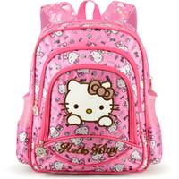mochila para crianças hello kitty venda por atacado-Hello Kitty Saco das Crianças crianças Mochila dos desenhos animados SchoolBag Crianças Sacos De Escola para Meninas Adolescentes bolsa de ombro Oxford à prova d 'água