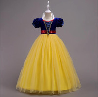83d44977c4d 15 16 Years Old Girl Long Dresses Short Sleeve Fairy Tail Princess Cosplay  Stage Costumes for Kids Children Gown Dress Yellow Red