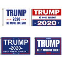 estilo bandeira dos eua venda por atacado-4 Estilos 90 * 150 cm Trump Bandeira 2020 Manter a América Grande Novamente para o Presidente EUA Donald Trump Bandeira Eleição 3 * 5 pés NNA528