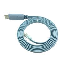 rj45 männlich groihandel-Network Switch Router USB Stecker auf Rj45 Male Router Switch Konfigurieren Sie Line Kabel Usb zu Rj45 Debug Zeile USB Rj45 Console Kabel