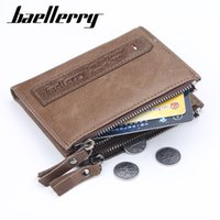 Wholesale colors free wallets resale online - two colors short wallet men real leather multifunctional billetera hombre Large capacity multiple card holder