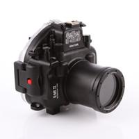 ii objektiv großhandel-40M 130ft wasserdichte Tauchen Kamera Gehäuse Fall für Olympus O-MD E-M5 Mark II OMD EM5II + 12-50 f / 3,5-6,3 Objektiv