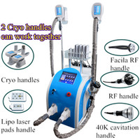 Wholesale lipo laser system - Fat freezing beauty machine cryolipolysis slimming fat reduction cavitation RF wrinkle removal lipo lasers cryotherapy system