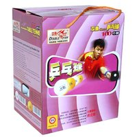 Wholesale Table Tennis Training Balls - 100x Double Fish 40mm White Table Tennis Training Balls for PingPong