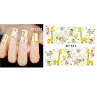 tierabziehbild nail art aufkleber großhandel-DIY Nail Sticker Tier Blume Wasser Transfer Aufkleber Sliders für Nail Art Design Dekoration Tattoo Maniküre Wraps Werkzeuge Tipp