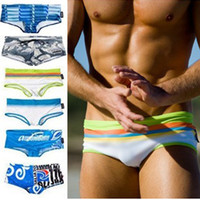 Wholesale shorts sunga for sale - Printing Swimsuit Man Brand Swimwear Men Gay Swimsuits Swimming Briefs Trunks Mens Swim Shorts Beach Wear Sunga