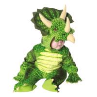 küçük çocuklar kostümleri toptan satış-Triceratops Kostüm çocuk Boys Çocuklar Küçük T-Rex Kostüm Dinozor Tulum Cadılar Bayramı Maskot Noel kostümleri çocuklar için WSJ-68