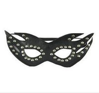 jogo de sexo adulto s venda por atacado-Kinky Sexo Feminino Escravidão Couro Cover Up Blindfold Máscaras Faciais Rosto Adulto Jogo Do Traje Do Partido Adulto jogos