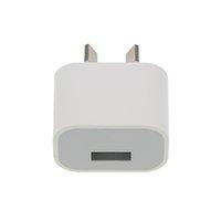 cargador de pared usb au 1a al por mayor-100Pcs para iPhone 8 Edition 5V 1A AU Plug USB Cargador de pared Viaje de viaje Adaptador de CA cargando para iPhone 6 6S 6 Plus 7 7 Plus 5 5S