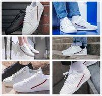 mavi beyaz antikalar toptan satış-Antik AD Continental 80 Rascal Deri Rahat Ayakkabılar Beyaz OG Çekirdek Siyah Aero Mavi Gri Erkekler Moda Eğitmenler Zapatos Moda Sneakers 40-45