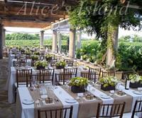 классические украшения для стульев оптовых-300 х 30 см 2pcsnatural мешковины джут стол Бегун для деревенский классический виноградник свадебный стол украшения дома стол стул украшения