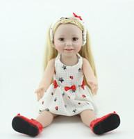 ücretsiz doğmuş oyuncak bebekler toptan satış-Reborn bebek / bebek / kız giyinmek oyuncak NPKDOLL Amerikan kız uzun gün mevcut bebek 45 cm prenses DHL ücretsiz kargo