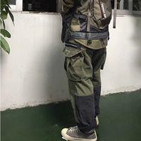 grüne bdu hose großhandel-NACHBARSCHAFT MIL-BDU C-PT CARGO Waschen Werkzeug Hosen Herren Hose Stich Tasche Casual Lose Blau Grün Hosen HFSSKZ001