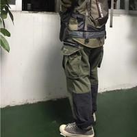 grüne bdu hose großhandel-NACHBARSCHAFT MIL-BDU C-PT CARGO Waschwerkzeug Hosen Herren Hosen Stich Tasche Lose Beiläufige Blau Grün Hosen HFSSKZ001
