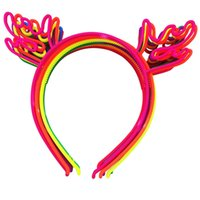 Wholesale Kids Reindeer Antlers - Xima Reindeer Antlers Headband Christmas And Easter Party Plastic Headwear For Kids Hair Accessories 12pcs Lot
