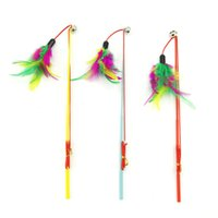 Wholesale durable pet toys for sale - Group buy Fishing Rod Cat Toys Colourful Feathers Telescopic Rope Tease Kitten Stick With Bells Durable Steel Bar Pet Interaction Plaything zk Y