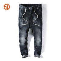 Discount harem pants crotch - Fashion Men Harem Pants Brand Casual Drawstring Sagging Jeans Pants Men Trousers Loose Crotch Pant Joggers Big Pockets