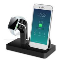 iphone holder şarj yuvası toptan satış-Şarj Dock Standı Tutucu iwatch 3/2/1 42mm 38mm IPhone X 87 7/8 Artı 6 S 6 Artı 6 S 5 S 2 in 1 şarj istasyonu