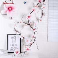 ingrosso boutonnieres artificiali di nozze-Fiore artificiale di magnolia Fiore di seta falso Fiore ramo Boutonniere Flores Arrange Tavolo da sposa Home Decor Party Accessorio