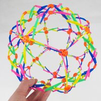 Wholesale telescopic ball - Funny Kid Expanding Sphere Multicolor Mini Telescopic Ball Colorful Hand Grabbing Magic Flower Balls Children Toys Gifts 3 59dt YY
