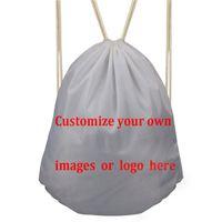 Wholesale cute schoolbags for sale - Group buy Customized Cute Robot Cartoon Women Backpack Fitness Yoga Sports Women Drawstring Bag Storage Bag School Girls Schoolbags