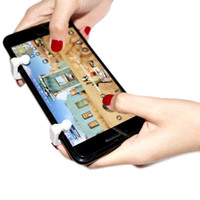 Wholesale button gamepad - Smart Phone Mobile Gaming Trigger and Gamepad Handle Grip for Knives out  Rules of Survival  PUBG Mobile Game Fire Button