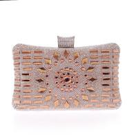 ingrosso borse blu ragazza-Fashion Special Designer Luxury Crystal Evening Bags Ragazze Party Borse Lady Day frizioni oro blu Sliver XST-B0124