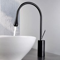 Wholesale use mixer for sale - Group buy 5 Star Hotel Use Unique Design Wash Basin Faucet mixer tap with single hole Single Handle black finish deck mount sink faucet Bathroom
