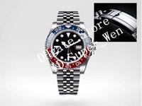 Wholesale black titanium watch - Luxury Sapphire Original Clasp 40MM GMT Wristwatch 126710BLRO Pepsi Red Blue Mechanical Automatic Asia 2813 Movement Watch Self-wind Watche