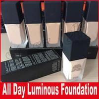 ingrosso trucco di fondamento luminoso-Nuovo trucco per tutto il giorno Luminous Weightless Foundation Cosmetics 1FI. Oz. Treccia da 30 ml 6 colori Base DHL Free