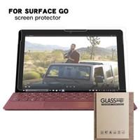 yüzey tablet koruyucuları toptan satış-Microsoft Surface GO Için temperli Cam Ekran Koruyucu 10.1 '' 10 inç TAB Tablet Koruyucu Film 100 adet perakende paketinde