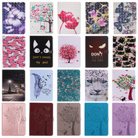 Wholesale folio wallet leather case online – custom Flower Cat Girl Tree PU Leather Wallet Case for New iPad Pro Air Mini Samsung Tab T280 T385 T580 T350 T550 T560