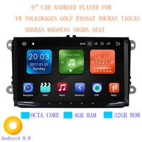 "Wholesale vw polo dvd - Super thin 9"" Android 8.0 Octa Core 4GB RAM 32GB ROM Car DVD Player Radio for vw Volkswagen Golf Passat Touran Tiguan EOS POLO Skoda Seat"