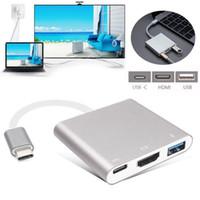 usb 3.1 c hub toptan satış-Macbook Pro Mac için C Tipi USB 3.1 USB C 4K HDMI USB 3.0 Adaptörü 3 1 Hub