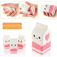 Botella Squishy Milk Box Cartón Lento Levantamiento Cute Phone Straps Pendant Cream Scented Cake Bread Kids Fun Toy Gift