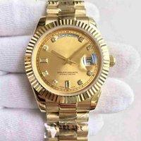золотая дата оптовых-ААА топ люксовый бренд 18 карат золотой день дата 40 мм с автоматическим заводом механический механизм складывания корона пряжка мужские наручные часы