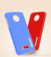zırh çift katmanlı örtü toptan satış-Motorola Moto Için çift Katmanlı Sağlam Zırh Telefon Kılıfları E5 E5 Artı X4 Z2 Oyna G5S Artı Yeni Hibrid PC Kapak