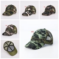 44820032241 Kids Mesh Camouflage Trucker Caps Snapbacks Military Hats For Children  Summer Sports Caps Army Camo Curved Baseball Caps MMA277