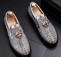 модные бахилы оптовых-Европейская станция мужская обувь модный человек заклепка яркий кусочек любовь бахилы педаль досуг обувь ленивый человек обуви a17